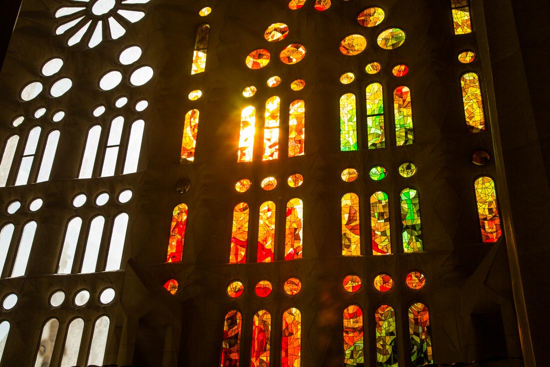 magisch licht in Sagrada Familia